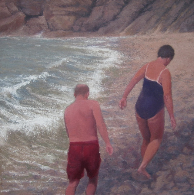 After the swim, Rotherslade