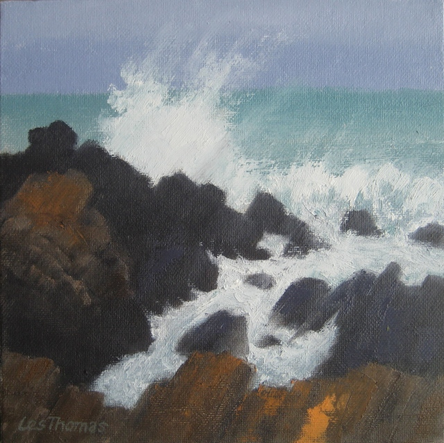 Crashing waves, St Ives